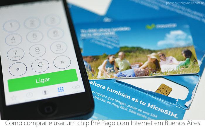 Celular pré pago em Buenos Aires, Argentina