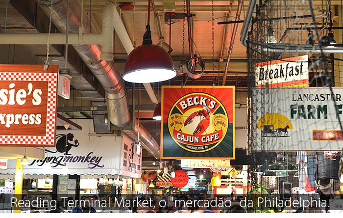 "philadelphia mercado food - Uma refeição diferente no Reading Terminal Market, o ""mercadão"" da Philadelphia."