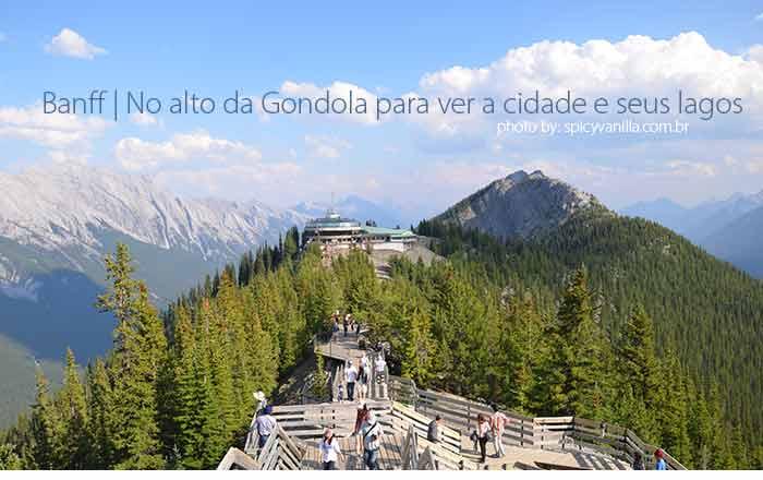 banff gondola capa - Banff | No alto da Gondola para ver a cidade e seus lagos
