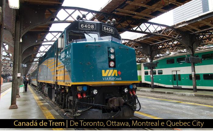 trem canada - Canadá de Trem | Toronto, Ottawa, Montréal e Quebec City