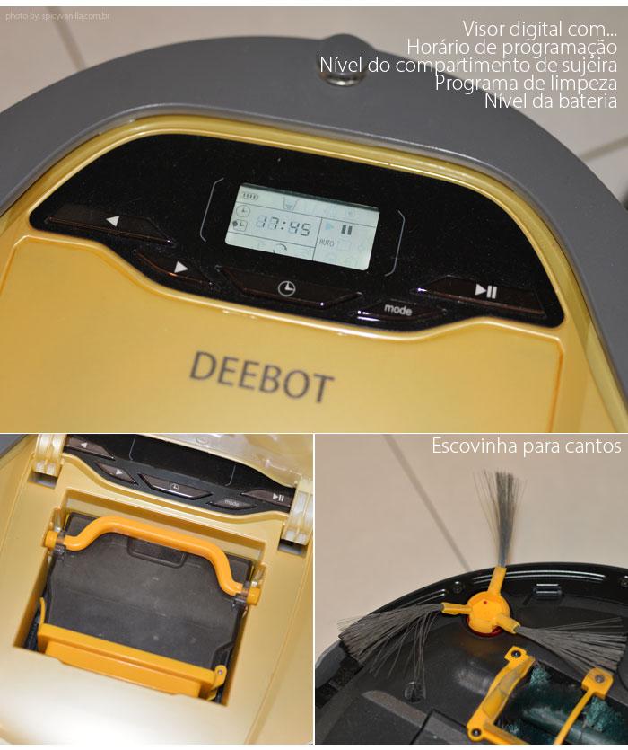 aspirador de pó robô deebot