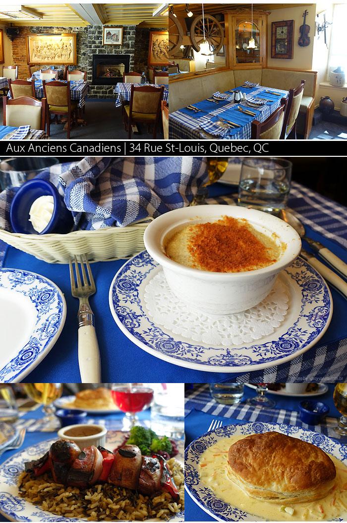 restaurantes quebec Aux Anciens Canadiens