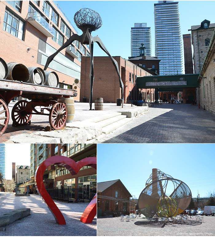 The Distillery District - Arte em Toronto