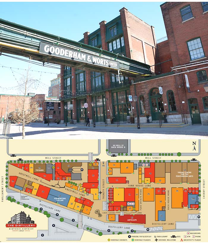 The Distillery District mapa