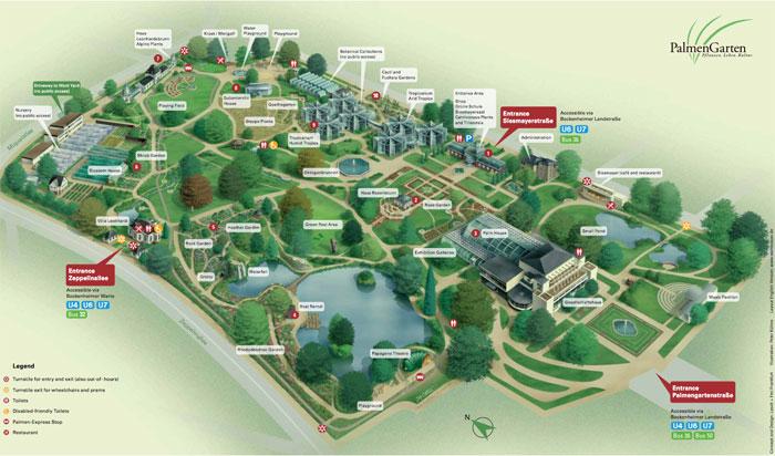 Palmengarten-map