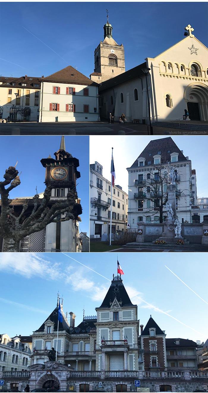 Evian cidade - Lausanne para Evian | Um bate e volta de barco entre Suiça e França
