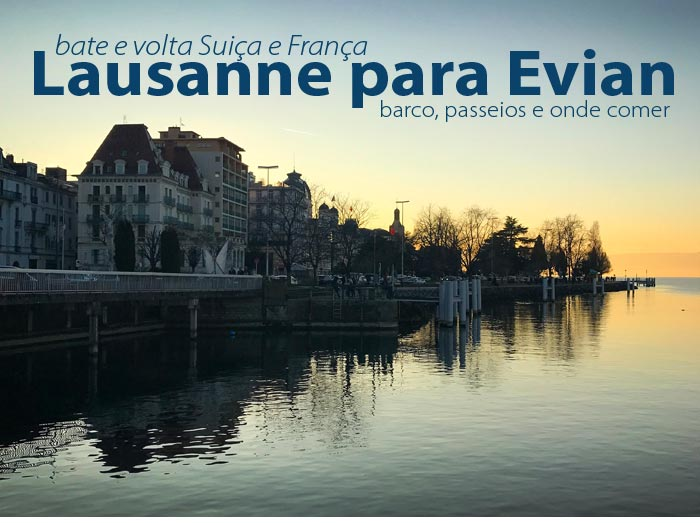 Evian lausanne - Lausanne para Evian | Um bate e volta de barco entre Suiça e França