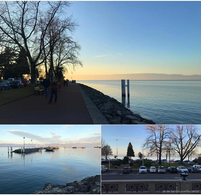 lake leman - Lausanne para Evian | Um bate e volta de barco entre Suiça e França