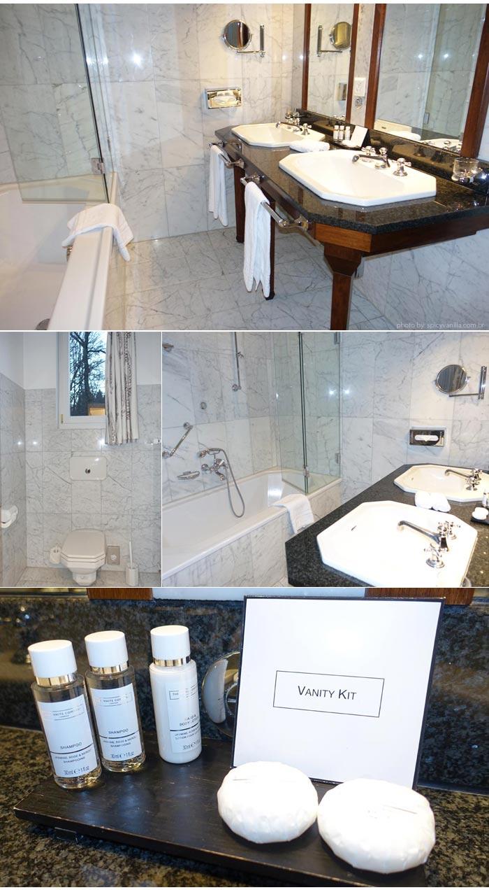 Hotel Chateau Gutsch banheiro - Dica de Hotel | Hotel Château Gütsch em Luzern (Lucerna) na Suiça Alemã