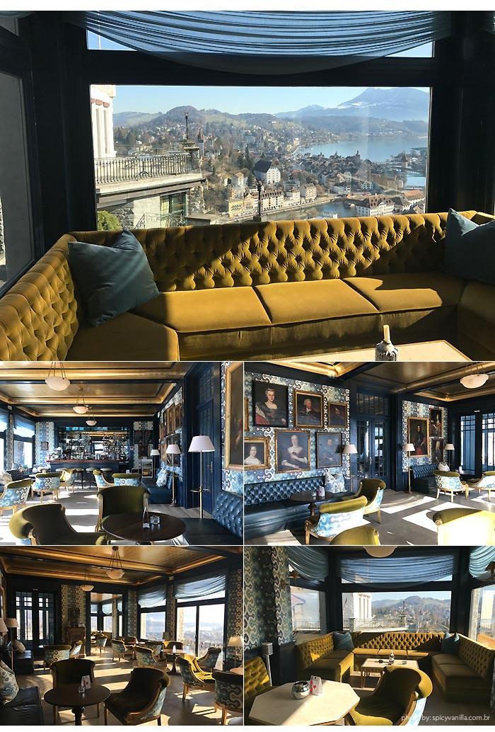 Hotel Chateau Gutsch bar - Dica de Hotel | Hotel Château Gütsch em Luzern (Lucerna) na Suiça Alemã