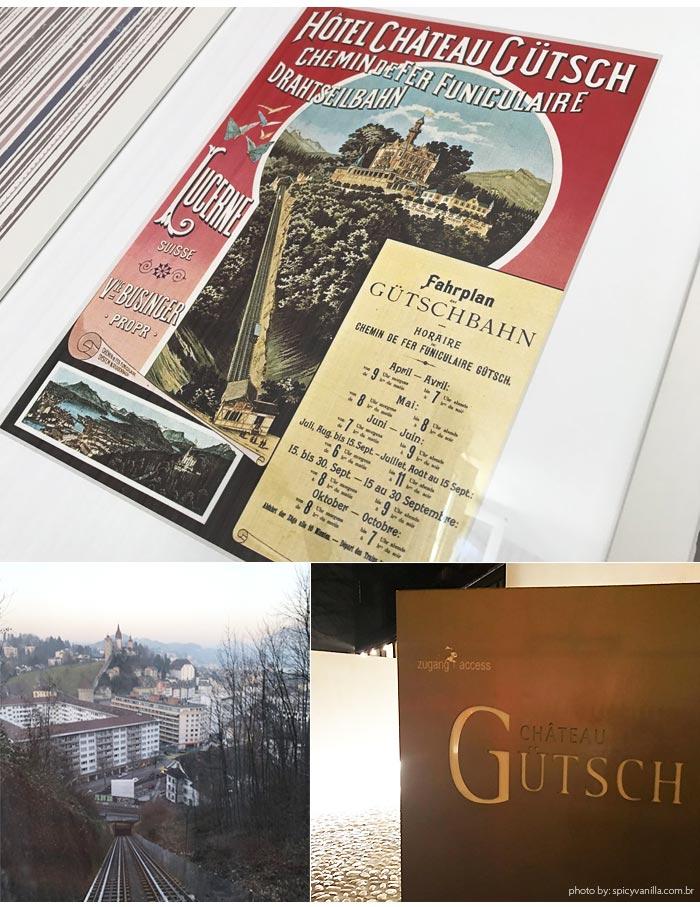 Hotel Chateau Gutsch funiculeire - Dica de Hotel | Hotel Château Gütsch em Luzern (Lucerna) na Suiça Alemã