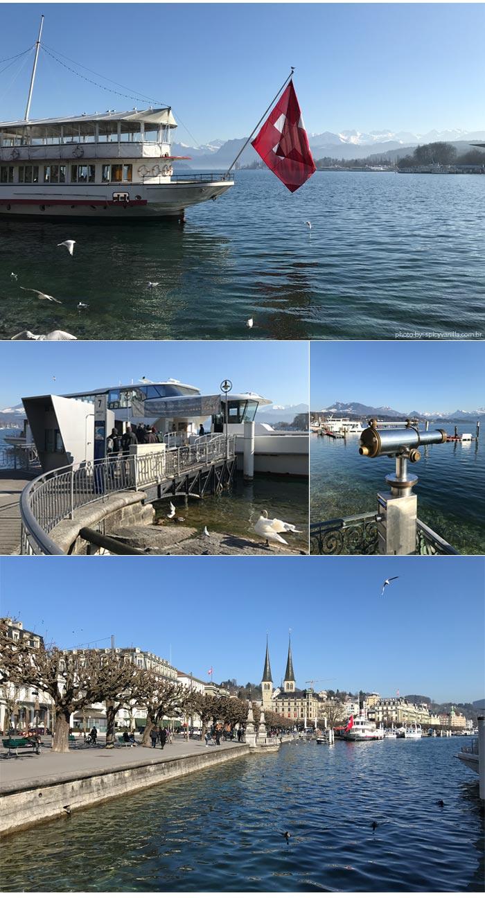 barco Luzern - Luzern (Lucerna - Suíça)| Dicas de hotel, passeios e o que fazer na cidade.