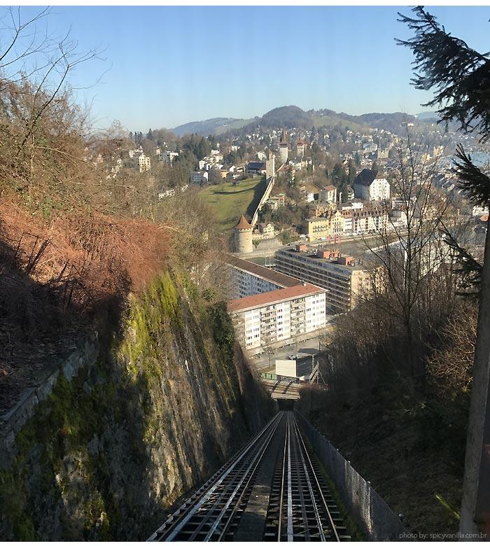 funicular castelo Luzern - Luzern (Lucerna - Suíça)| Dicas de hotel, passeios e o que fazer na cidade.