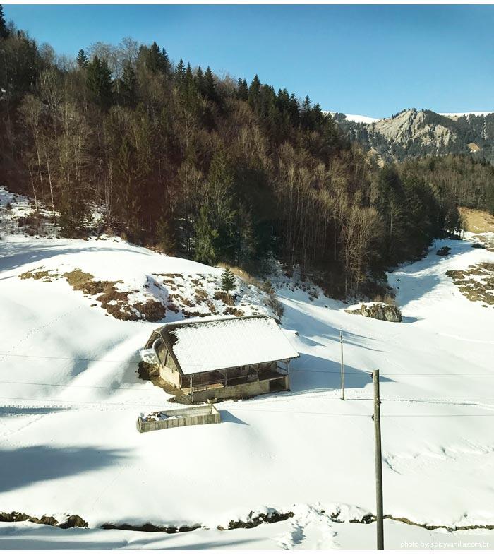 goldenpassline inverno 2 - Trem panorâmico na Suíça | Luzern - Interlaken - Montreux