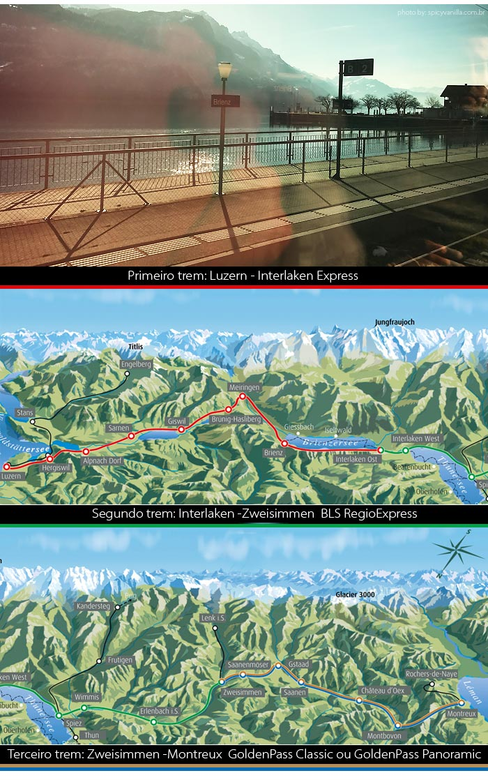goldenpassline - Trem panorâmico na Suíça | Luzern - Interlaken - Montreux
