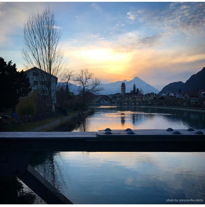 interlaken sunset - Suíça | Como chegar e o que fazer em Interlaken, cidade próxima ao Jungfrau