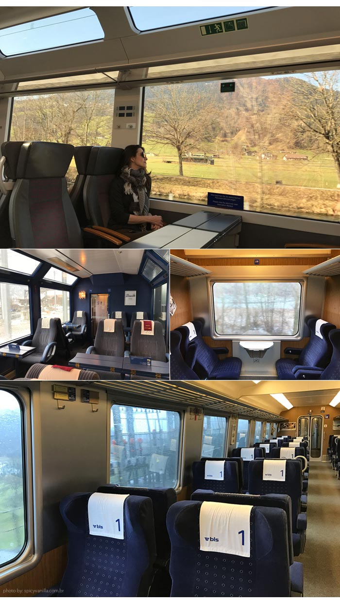 lugares trem suica - Trem panorâmico na Suíça | Luzern - Interlaken - Montreux