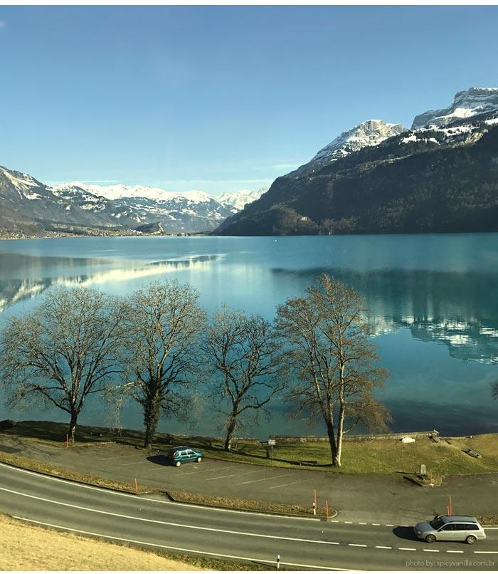 paisagem trem suica - Trem panorâmico na Suíça | Luzern - Interlaken - Montreux