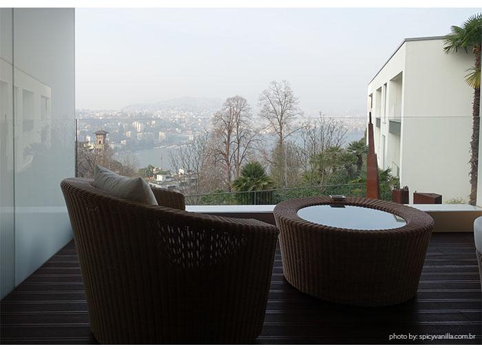 vista sacada the view lugano - Dica de Hotel | The View Lugano, um 5 estrelas romantico e espetacular na Suíça