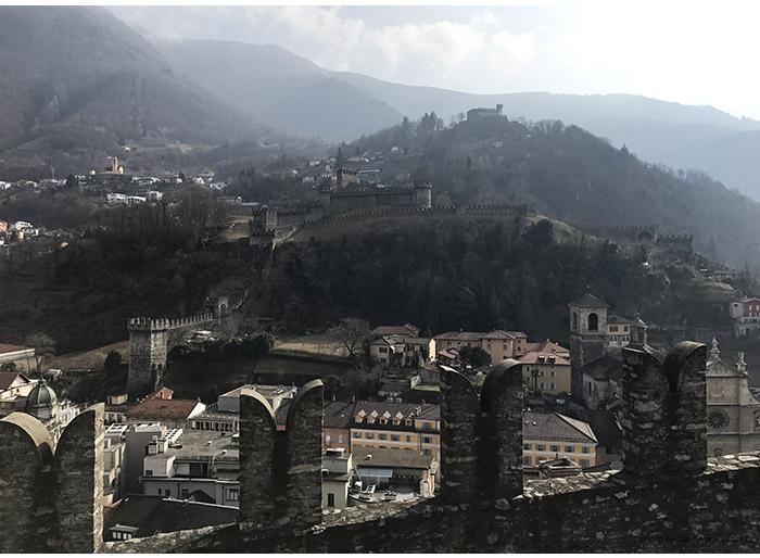 castelos bellinzona - Suíça | Os castelos de Bellinzona e a viagem até Chur (Coira)
