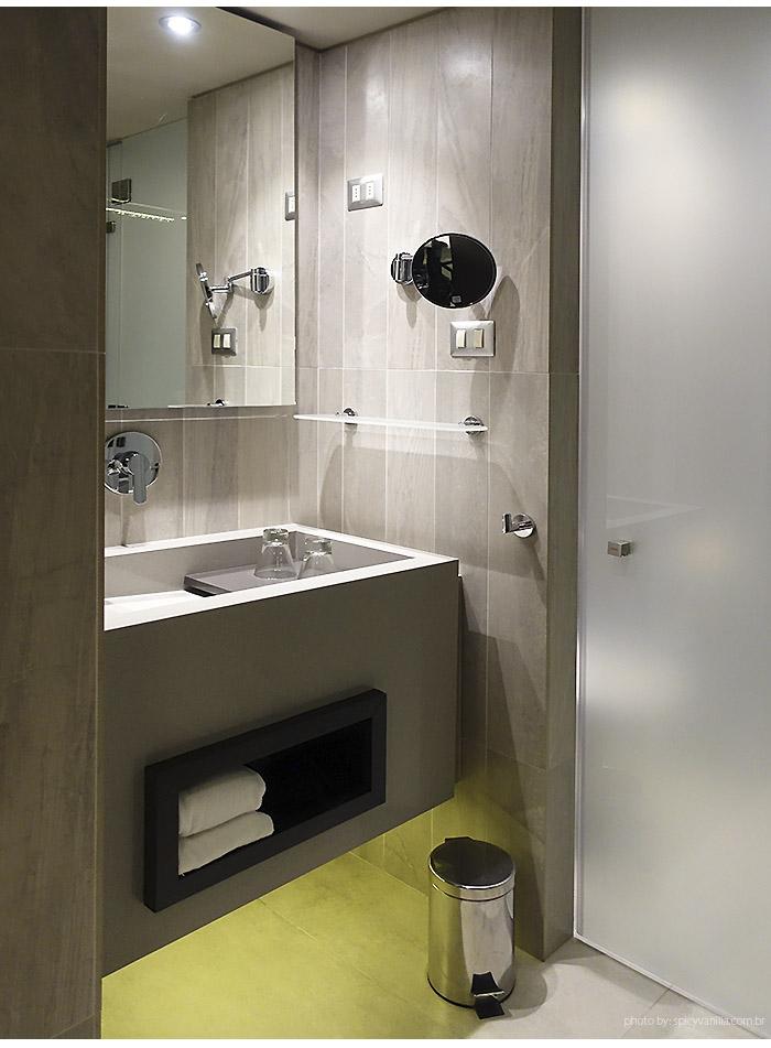 ladera hotel banheiro 1 - Dica de Hotel | Ladera Hotel Santiago do Chile