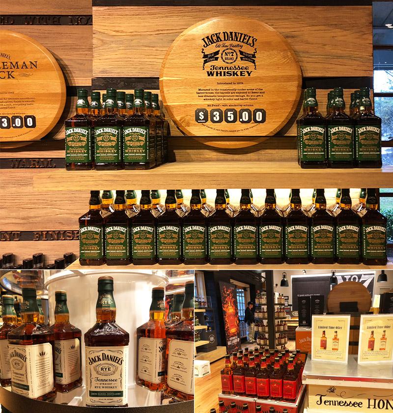 Jack Daniel's loja Tennessee